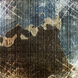 Collapsing cement wall. The background. For illustrations Stock Photography