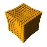 Collapsing cubes Royalty Free Stock Photography