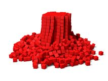 Collapsing cubes Stock Image