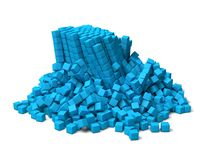 Collapsing cubes Stock Photography