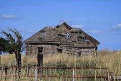 Collapsing farm house royalty free stock photos