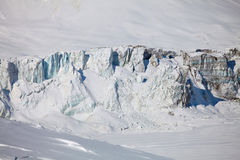 Collapsing glacier and frozen lake Royalty Free Stock Image