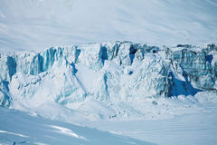 Collapsing glacier and frozen lake Royalty Free Stock Photography