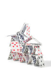 Collapsing house of cards Stock Images