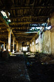 Collapsing interior of barn Royalty Free Stock Photography