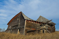 Collapsing old barn in fall Stock Photography