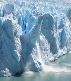 Collapsing Stack 1. Huge stack of ice collapsing off the Perito Moreno Glacier, Patagonia, Argentina. One of a series of four Stock Image