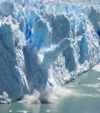Collapsing Stack 2. Huge stack of ice collapsing off the Perito Moreno Glacier, Patagonia, Argentina. Two of a series of four Royalty Free Stock Image