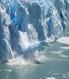 Collapsing Stack 3. Huge stack of ice collapsing off the Perito Moreno Glacier, Patagonia, Argentina. Three of a series of four Royalty Free Stock Photography