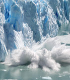 Collapsing Stack Splashing. Huge stack of ice collapsing off the Perito Moreno Glacier, Patagonia, Argentina. Four of a series of four Stock Images