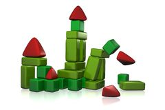 Collapsing toy castle Royalty Free Stock Photography