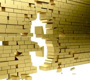 Collapsing wall making a dollar symbol Royalty Free Stock Photography