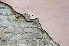 Collapsing wall Royalty Free Stock Images