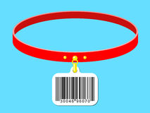Collar with bar code label Stock Photography