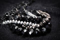 Collar brillante negro Foto de archivo libre de regalías