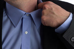 Collar businessman Stock Photo