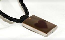 Collar con el corazón Foto de archivo libre de regalías