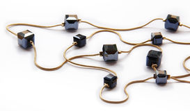 Collar cristalino negro Imagenes de archivo