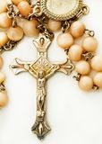 Collar with crucifix. And pearls Stock Photography