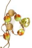 Collar de cadena con los granos del swarovski Imagen de archivo