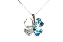Collar de diamante chispeante Foto de archivo libre de regalías