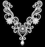 collar de la mujer de la joyería con las perlas Imagen de archivo