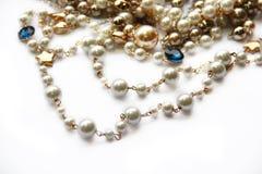 Collar de la perla Foto de archivo libre de regalías