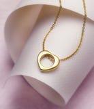 Collar de oro Foto de archivo libre de regalías