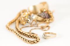 Collar de oro Fotografía de archivo