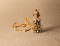 Collar de oro accesorio Fotos de archivo libres de regalías