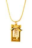 Collar de oro aislado Fotos de archivo