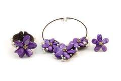 Collar de piedra de lujo para la mujer Imagen de archivo libre de regalías