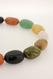Collar de piedra semiprecioso colorido Imagen de archivo libre de regalías