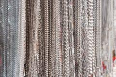 Collar de plata Imagenes de archivo
