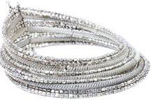 Collar de plata Imagen de archivo libre de regalías