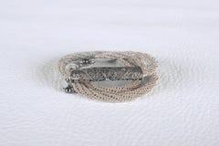 Collar de plata de la joyería del vintage Foto de archivo