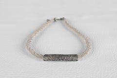 Collar de plata de la joyería del vintage Foto de archivo libre de regalías