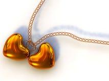 Collar del corazón ilustración del vector