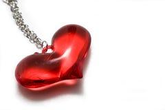 Collar del corazón de la tarjeta del día de San Valentín Foto de archivo libre de regalías
