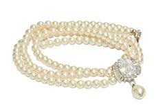 Collar del diamante y de la perla Foto de archivo libre de regalías