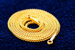 Collar del oro Foto de archivo libre de regalías