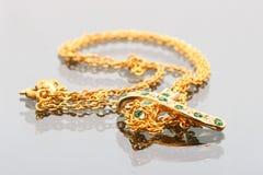 Collar del oro Imágenes de archivo libres de regalías
