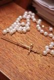 Collar del rosario Imágenes de archivo libres de regalías