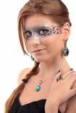 Collar del topacio de la turquesa de la muchacha Imagen de archivo libre de regalías