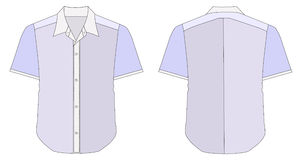 Collar Dress Shirt In Blue Color Tones Stock Photos