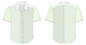 Collar Dress Shirt In Blue Green Color Tones Royalty Free Stock Image