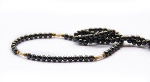 Collar negro de la perla Imágenes de archivo libres de regalías