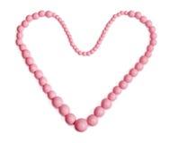 Collar rosado con la forma del corazón Fotos de archivo libres de regalías