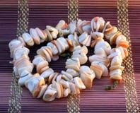 Collar rosado de los shelles del mar Foto de archivo libre de regalías