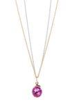 Collar rosado del zafiro. Imagen de archivo libre de regalías